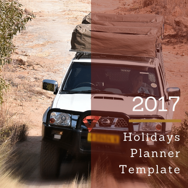 Holidays Planner Template